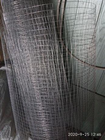 Продам сетка сварная оцинкованная 20 метров 20*20*1 мм