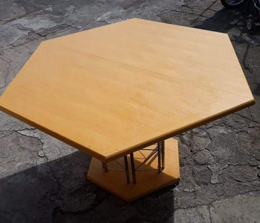 Stół sześciokątny rozkładany