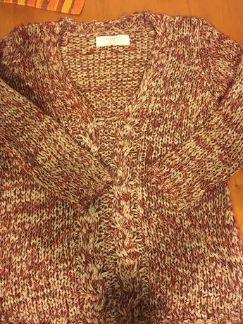 Camisola vermelha Zara Knit S- oferta collants