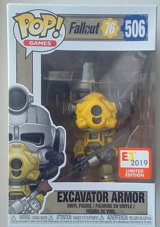 """FALLOUT 76"" Excavator Armor Funko POP! E3 2019 Limited Edition"