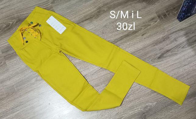 Białe i Żółte modelujące spodnie S/M i L/XL