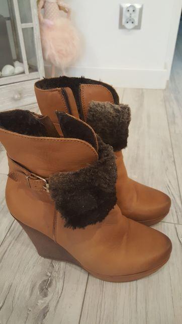 Skórzane buty 39