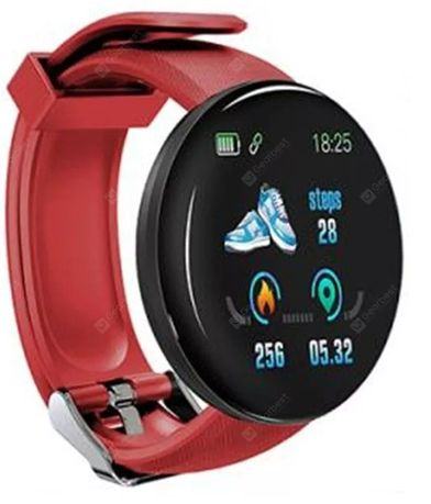 Smart Watch Smart Band Zegarek Monitor Snu Czerwona Opaska