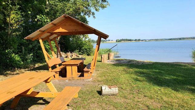 Działka rekreacyjna przy plaży nad czystym jeziorem Kruklin.