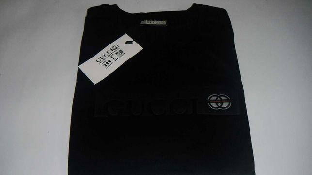 t-shirt gucci koszulka czarna