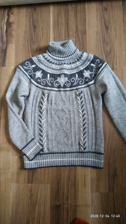 Теплый зимний свитер производство Турция