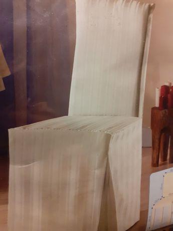 nowe pokrowce na krzesła ecru - 6 sztuk ecru