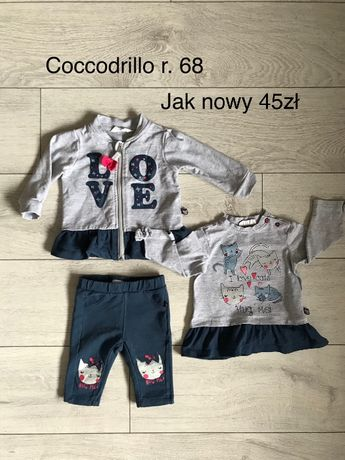 Dres bluza zestaw komplet jak nowy 68 coccodrillo