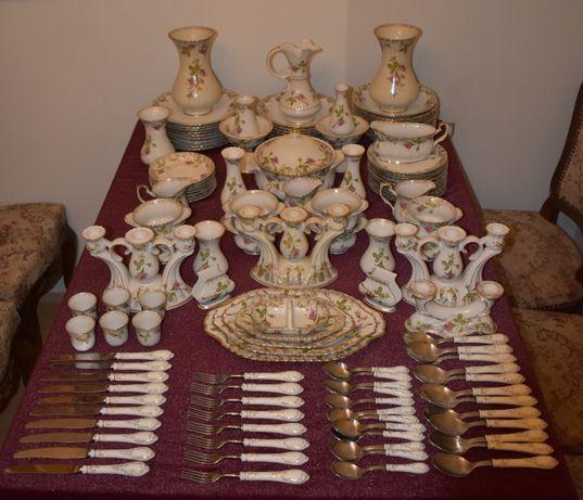 Bardzo duży zestaw porcelany 128 części