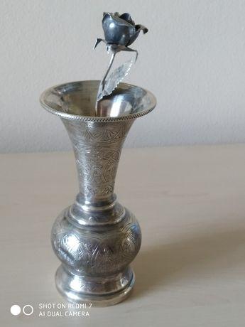 Ваза + роза серебро 800 проба