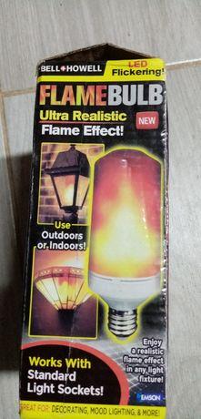 Лампа с эффектом огня.