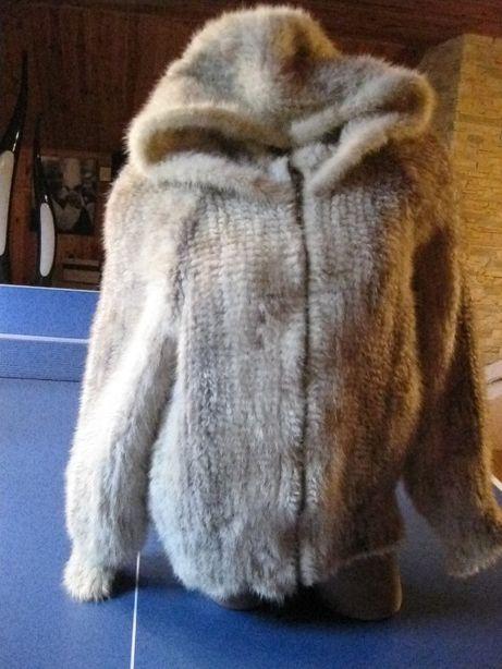 куртка вязаная норка с капюшоном р 48