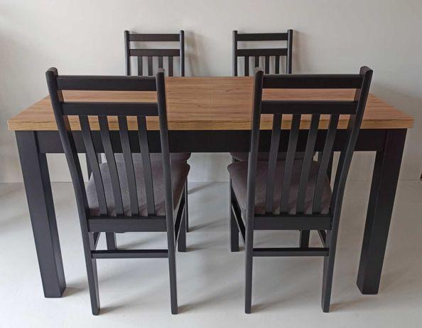 PROMOCJA Komplet stół rozkładany i 4 krzesła zestaw loft industrial