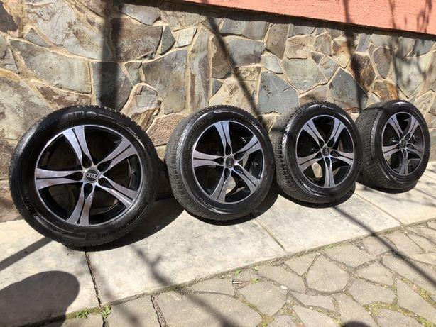 Колеса диски шины Michelin Alpin 205\55 R16 комплект Audi оригинал