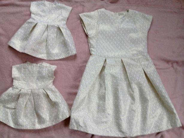 Family look. три платья для мами и дочки