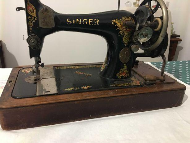 Cabeça de máquina de costura antiga Singer