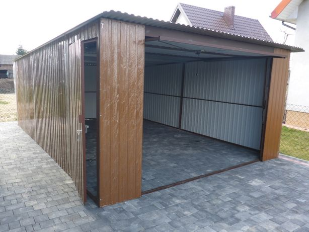 Garaż Blaszak Schowek Garaż blaszany Budowa Garaże blaszane PRODUCENT