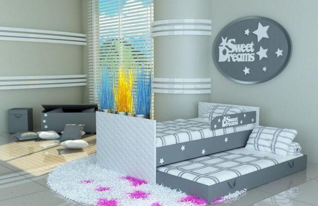 Piętrowe łóżko dziecięce, młodzieżowe różne kolory 3 wymiary