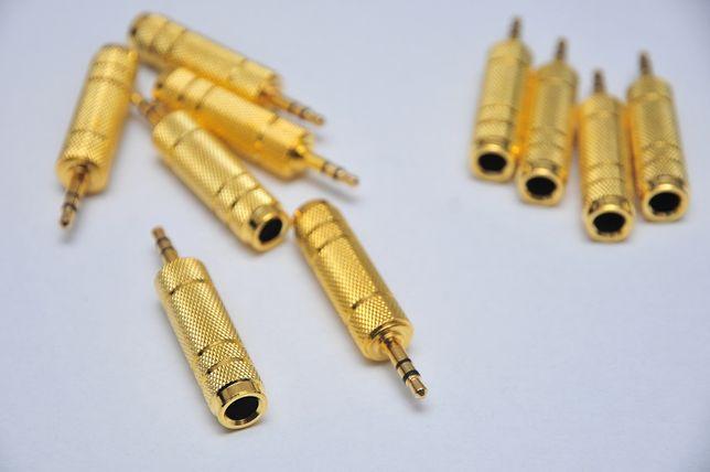 Переходник с Jack 6.5mm(внутренний) на миниджек 3,5мм(наружный) металл