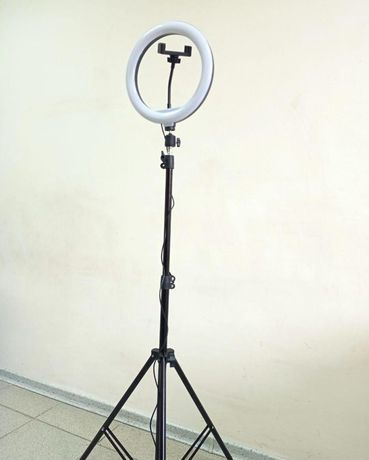 Штатив 2,1м +лампа ргб селфи на 26см Набор для блогера
