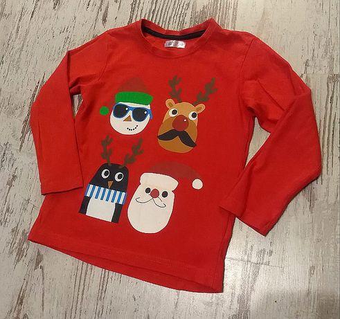 Bluzeczka świąteczne motywy rozmiar 110