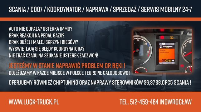Koordynator usterka Scania COO7 Serwis 24/7