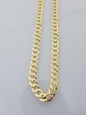 Złoty łańcuszek o splocie PANCERKA 14k.Nowy 18,3g Dł 55cm (229)