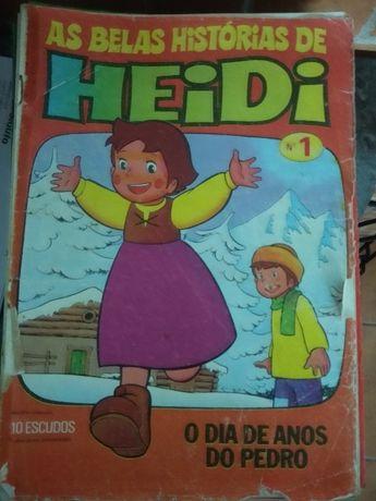 Revistas As Belas Histórias de Heidi 1976.