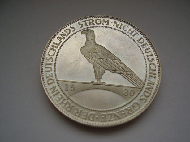 5 марок Орёл (рестрайк) Веймарская Республика, серебро.