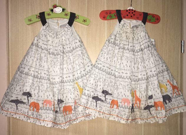 Sukieneczki Indigo 92 dla bliźniaczek