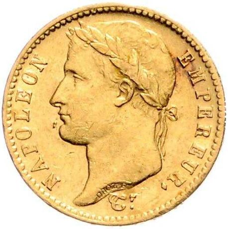 Złota moneta 20 Franków 1811 r. Francja