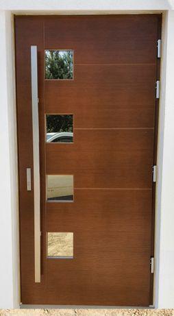 OD RĘKI Drzwi DOORSY PICO drewniane zewnętrzne wejściowe 100 mm