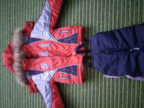 Зимний комбенизон с курткой на овчине
