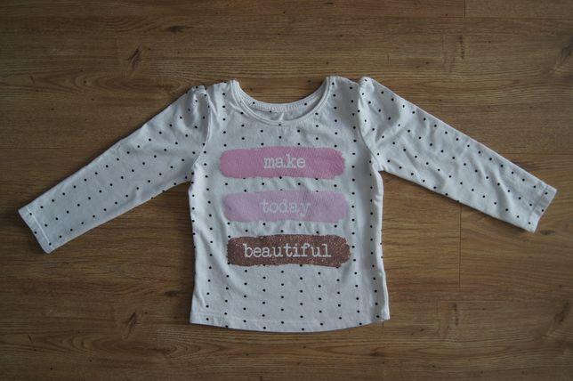 Bluzka bluzeczka na długi rękaw dla dziewczynki 98 2-3 lata Primark