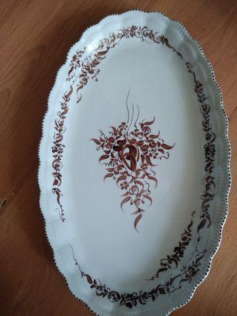 Stary półmisek porcelanowy,sygnowany.