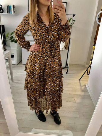 Sukienka wzor w panterkę