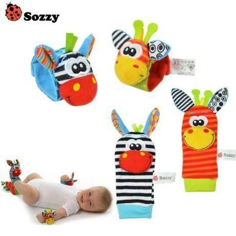 Продам развивающие браслеты и носочки погремушки Sozzy (набор 4 штуки)