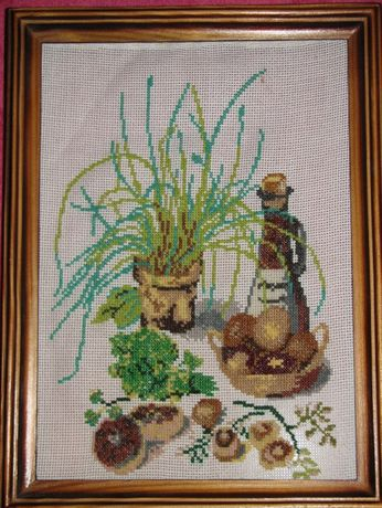 Декор картина крестиком ручная работа продам или обменяю