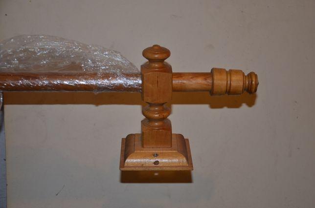 Karnisz drewniany 2 m - naturalne drewno