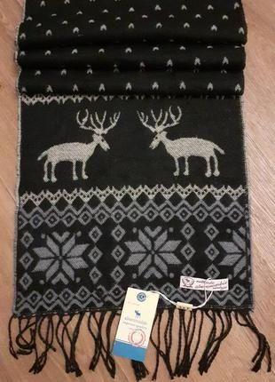 Мужской стильный шерстяной шарф бренда Abercrombie & Fith.