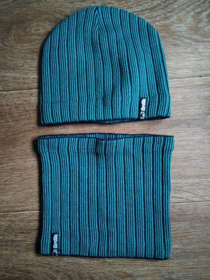 Шапка осенняя + шарф-снуд Кременчуг - изображение 1