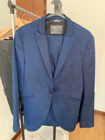 Fato Zara Man Azul Marinho - Slim Fit