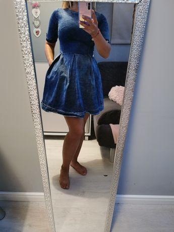 Sukienka Jeansowa rozkloszowana S/M jak nowa