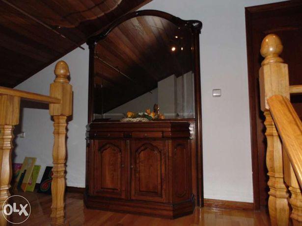 VENDO Móvel de Entrada com Espelho em Madeira Maciça