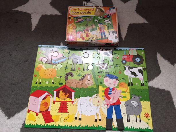 Duże puzzle 28 elementów farma