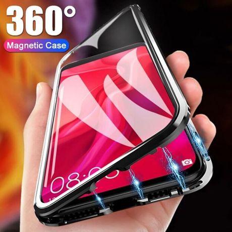 Магнитный чехол Full Glass 360 Samsung S8 S9 Plus S10E Lite Note 8 9