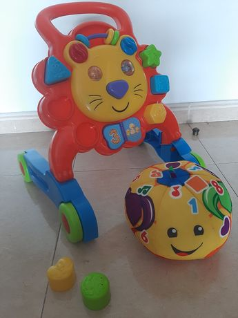 Andador bebé  e bola musical
