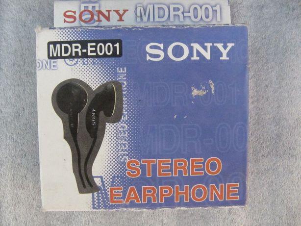 Наушники SONY MDR-E001, новые, длина шнура 1 м