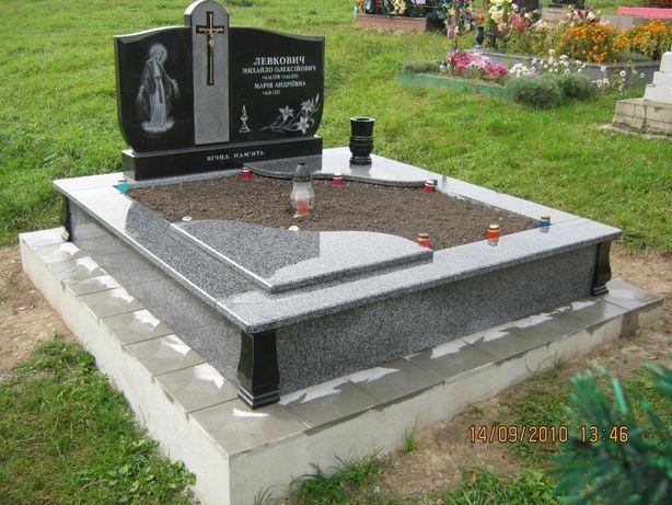 Заливки на цвинтарі Памятники,Підвіконники,Вази і інші вироб з Граніту