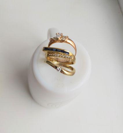 Кольца золотые с бриллиантом и др. камнями